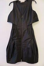 Mischen Black Zip-Front Sleeveless Balloon-Bottom Dress Size 0
