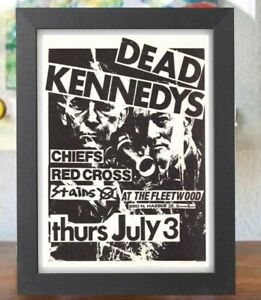 """Dead Kennedys at the Fleetwood July 3 Concert Poster Flyer Framed Print  5"""" X 7"""""""