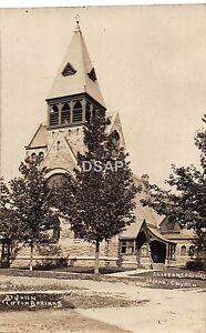 New-York-NY-Real-Photo-RPPC-Postcard-c1910-CLIFTON-SPRINGS-St-John-039-s-Church