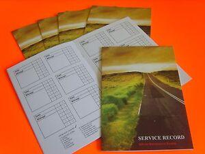 10 x vehicle service book blank car history maintenance record