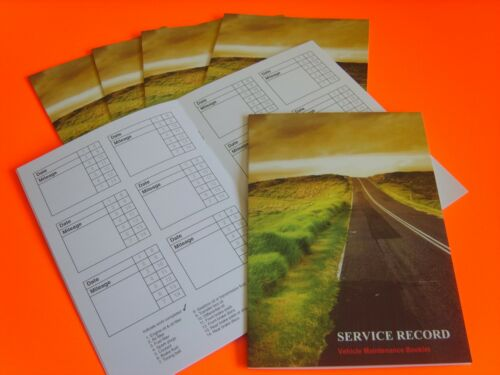 10 x Vehicle Service Book Blank Car History Maintenance Record Handbook Logs NEW