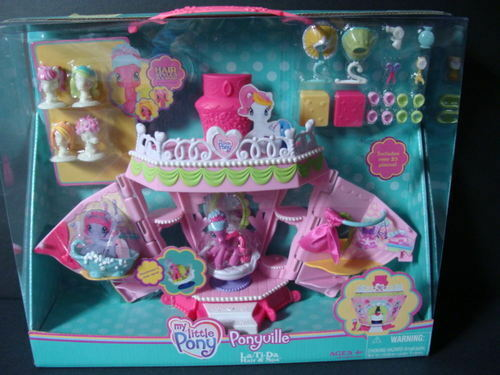 NEW My Little PONY Ponyville La-Ti-Da Hair & Spa Salon Playset Cheerilee Wigs