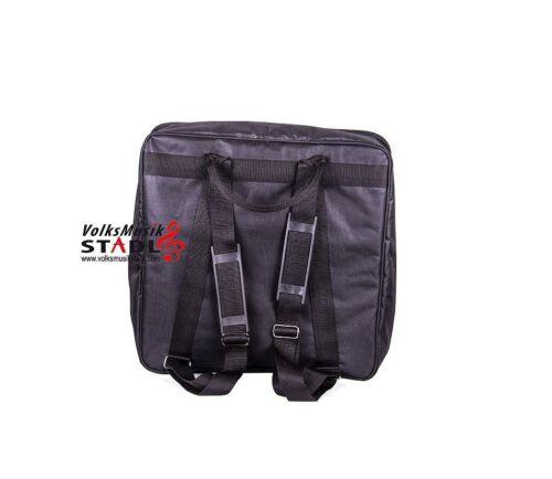 Akkordeon Tasche Rucksack Gigbag schwarz 55 x 52 x 24 cm