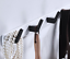 miniature 13 - 3-6Hooks Coat Robe Hat Clothes Hanger Towel Rack Space aluminum Wall Mount Black