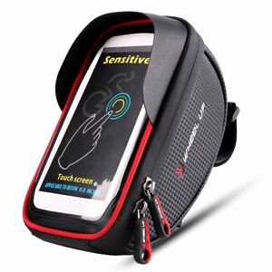 WHEEL UP 360 Degree 6Inch Waterproof Mobile Phone Pouch Touch Screen Bike Bag AA