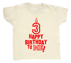 3 Birthday T Shirt Happy To Me Boy Girl 3rd Third Three Party Clothes