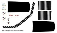 1971-72 Plymouth Road Runner Special Stripes 1/24th - 1/25th Scale Decals