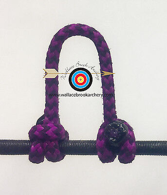 1,2,5,10 Fl Purple /& Black Speckled D Loop BCY 24 Rope Archery Release Bowstring