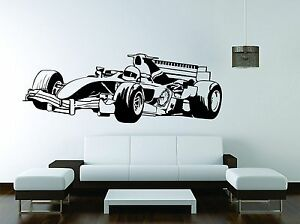 Formula 1 Wall Mural Vinyl Decal Sticker Decor NASCAR Sport Car
