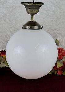 Jugendstil Deckenlampe jugendstil deckenlampe leuchte hängelampe kugel glas messing lampe
