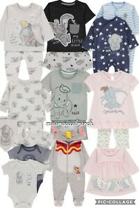 Brand-New-Baby-039-s-Disney-DUMBO-Clothing-Jogger-Set-Baby-Grow-10-To-Choose-From