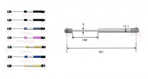 Gasdruckdämpfer Gasdruckfeder Gasfeder 361mm 100N schwarz 8163