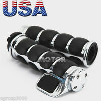 1'' Motorcycle Hand Grips Throttle Boss Fit Harley Softail Deluxe Efi Flstni
