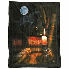 Details about  /New Bewitched Cat Plush Throw Gift Blanket Sherpa Lisa Parker SOFT Book of Magic
