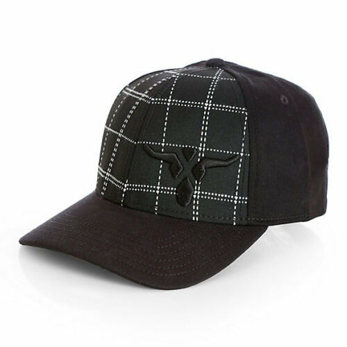 Men/'s Wrangler 20X Plaid Front Cap with Steerhead Logo 20X219X Free Shipping!