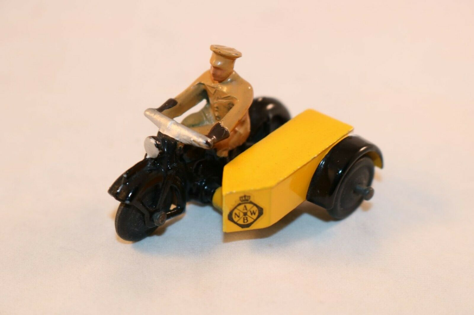 Dinky Toys 44b Motor cycle Patrol  ANWB  Dutch equivalent of the AA VNM rare