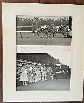 Vintage Photo Horse Race Hollywood Park William Shoemaker