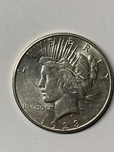 1923 S Silver Peace Dollar $1 Coin AU