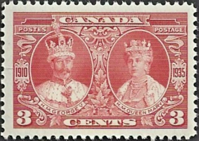 Canada   # 213    KING GEORGE V & QUEEN MARY    Brand New 1935  Pristine Gum