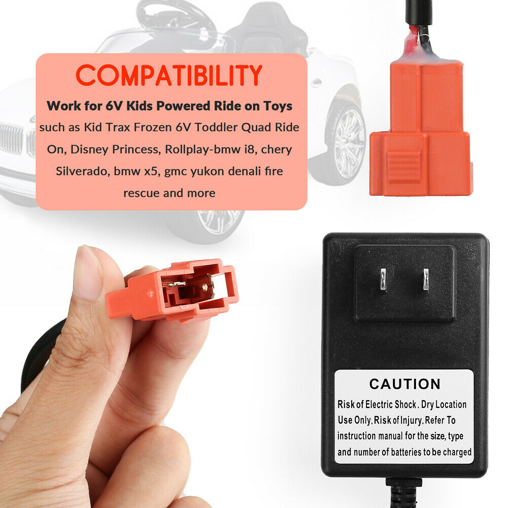 6V Kids Ride On Car Charger for Trax Disney Frozen Mickey Mi