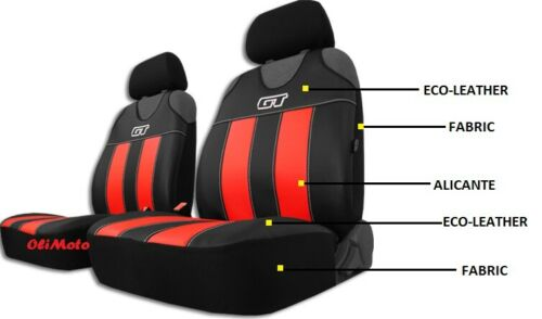 FRONT SEAT COVERS VESTS T-SHIRTS ECO-LEATHER /& ALICANTE KIA PICANTO Mk3 2017-on