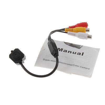 "Mini Camera Pinhole Video Audio Security Color Infrared 1/3"" CMOS Monitor OE"