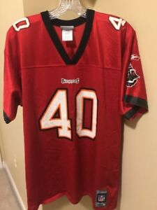 new products d2938 919e1 Details about MIKE ALSTOTT TAMPA BAY BUCCANEERS JERSEY SIZE YOUTH XL #40  RED NFL FOOTBALL