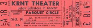 BOBBY-GOLDSBORO-1968-HONEY-TOUR-UNUSED-KRNT-CONCERT-TICKET-NMT-2-MINT-No-1