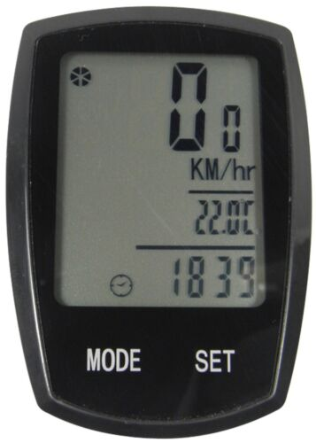 Cycle Bicycle 22 Function Wired Speedo Odometer Speedometer Computer + Light