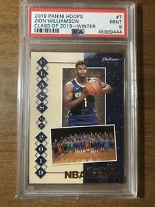 2019-Panini-Hoops-Class-Of-2019-Winter-7-Zion-Williamson-RC-ROOKIE-CARD-PSA-9
