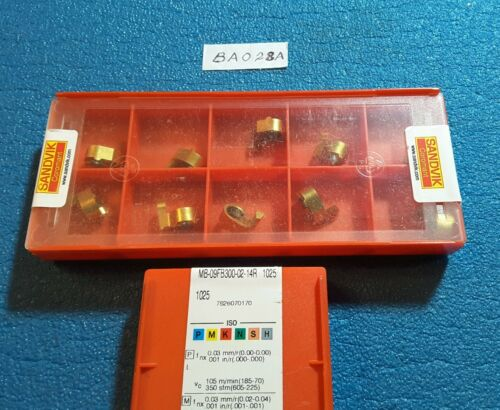 SANDVIK  MB-09FB300-02-14R 1025  CARBIDE INSERTS  10 PCS