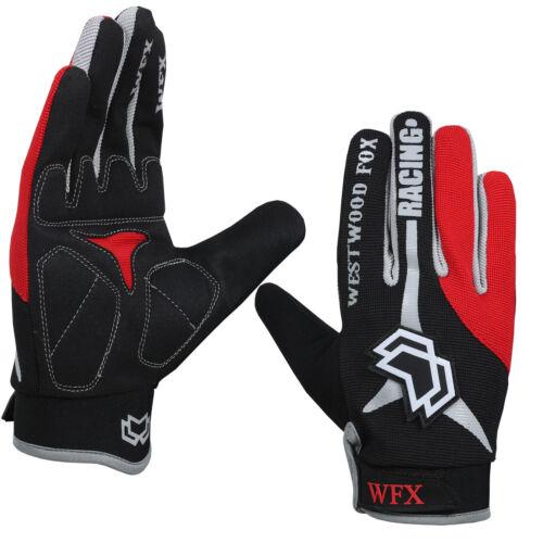 WFX Full Finger Cycling Gloves Gel Palm Bicycle BMX MTB Bike Riding Silicon Logo