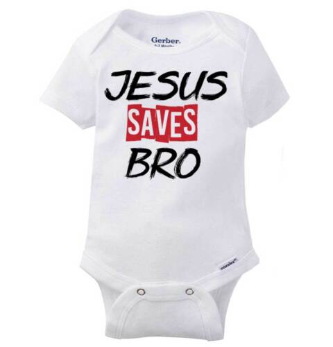 Jesús salva Bro Lindo Gerber OnesieCristo Bebé religiosa cristiana Mameluco