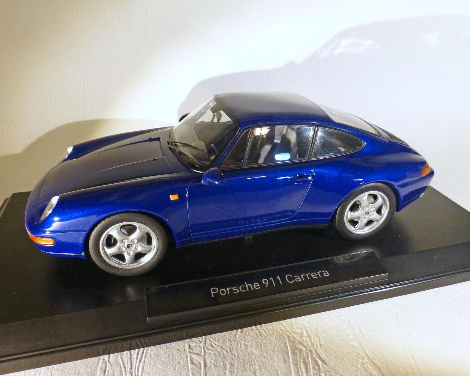 PORSCHE 911 CARRERA 1993, bleu métallisé, NOREV 1 18