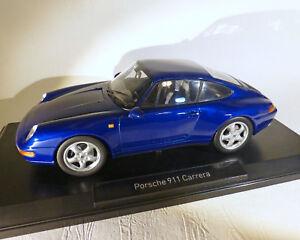 Porsche 911 Carrera 1993, Bleu-Métallisé<wbr/>, Norev 1:18
