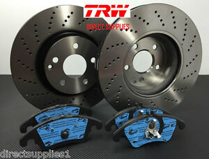 Mercedes E Class E350 Cdi W212 Front Brake Discs And Pads Amg Sports Package Ebay