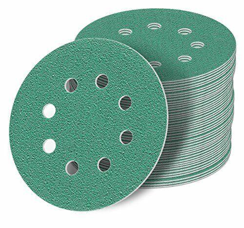 125 mm green Exzenter Schleifscheiben Sortiment SET 50 Scheiben P2000 P1500 P...