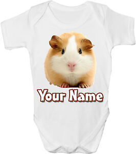 GUINEA PIG PERSONALISED BABY VEST / GRO /BODYSUIT * GREAT GIFT & NAMED TOO *