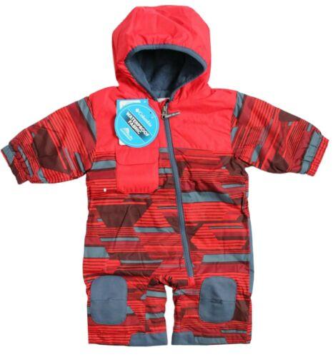 Columbia Baby Boy 3-6M Infant Hot-Tot Suit 1-Pc Snowsuit Red Spark Geo