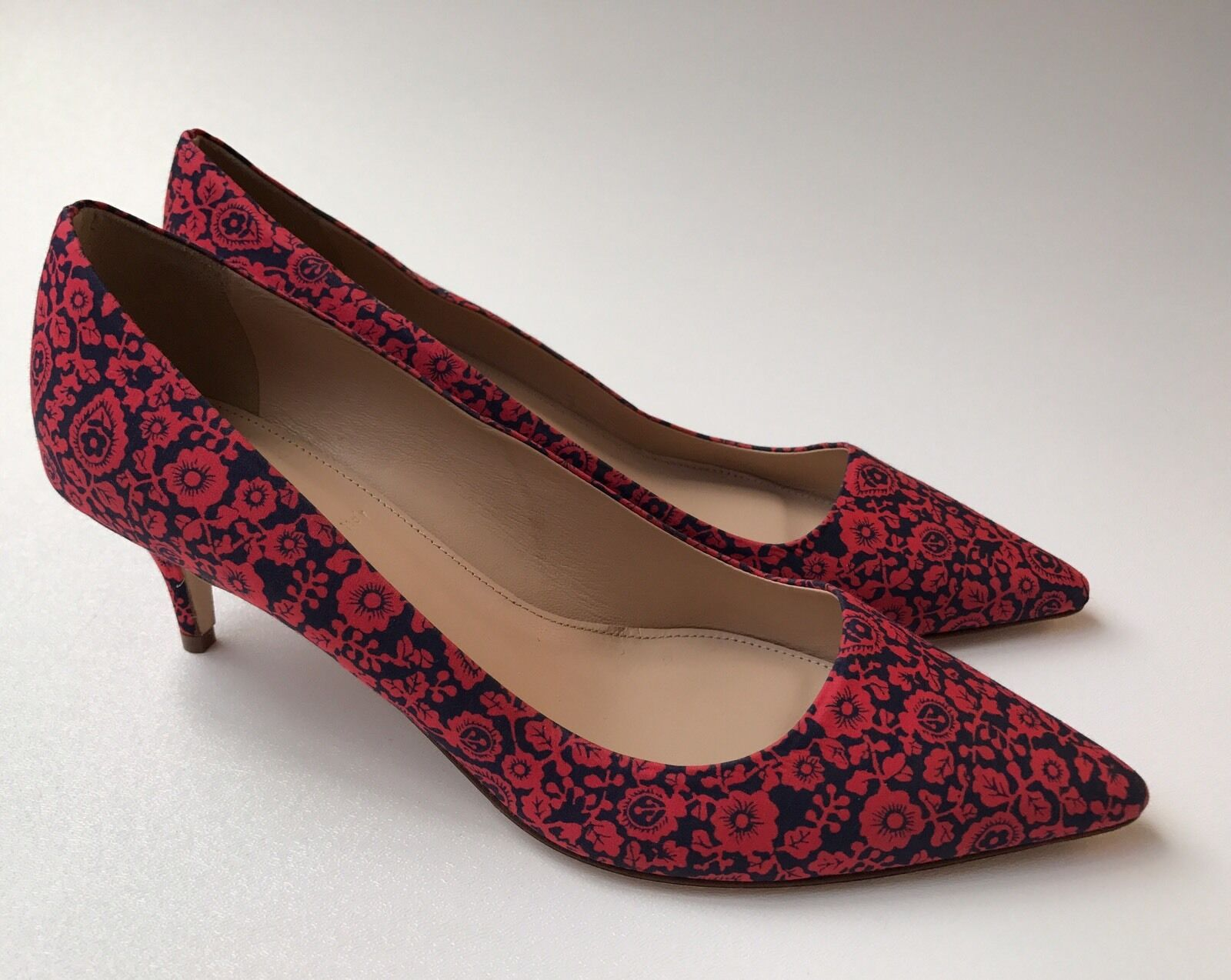 J.CREW Dulci Printed Heels Sz 7 rot rot rot Fabric b0376  228 529d6d
