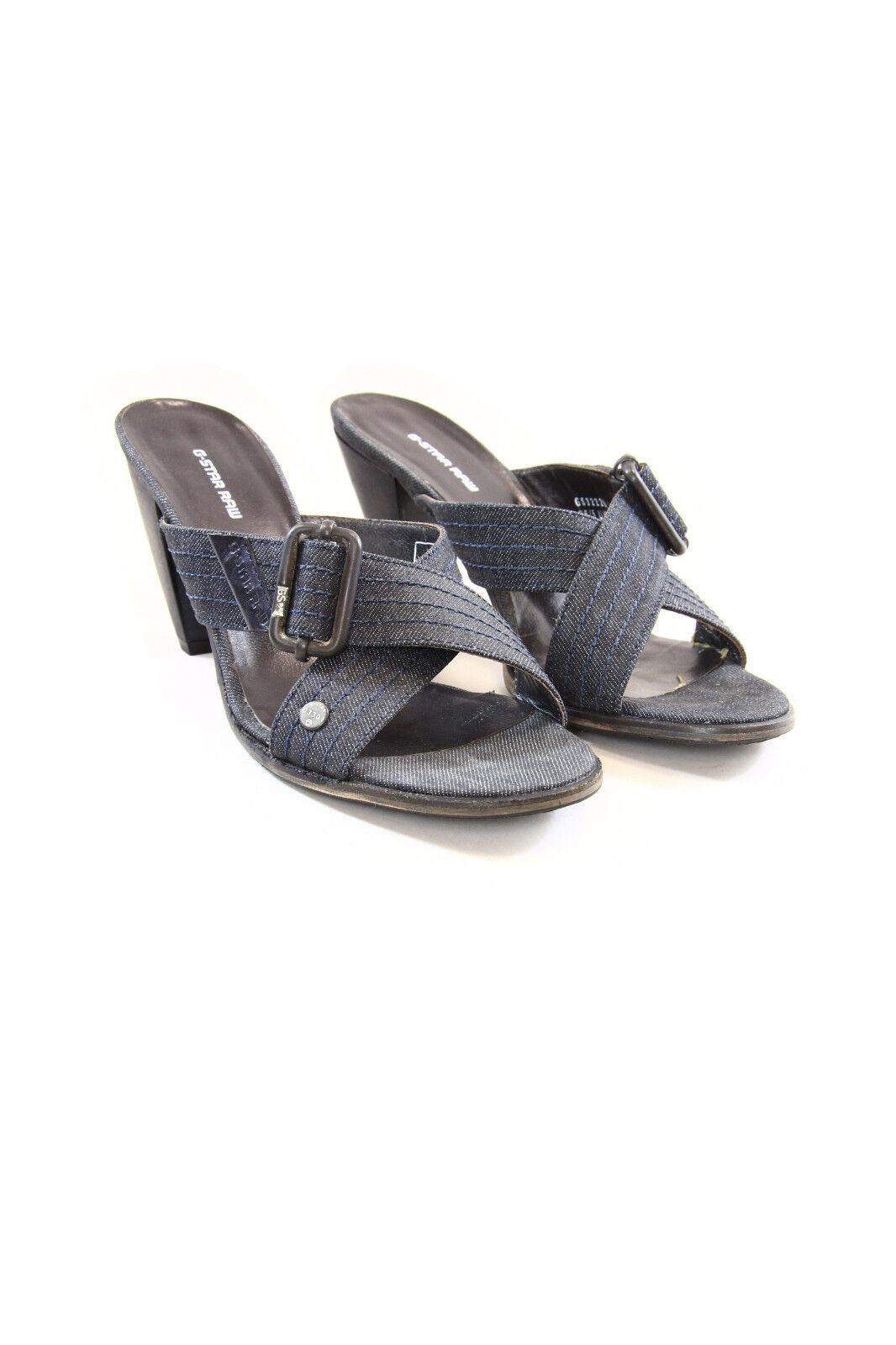 G -Star GS32226 Donne Denim Sandals con Wooden Heel (8  cm)  bellissimo