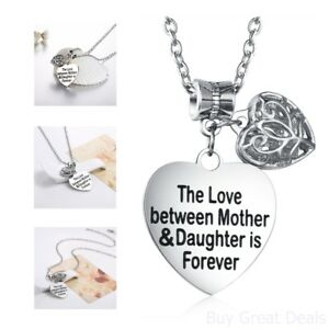 Heart mother daughter necklace pendant heart necklace gift image is loading heart mother daughter necklace pendant heart necklace gift aloadofball Choice Image