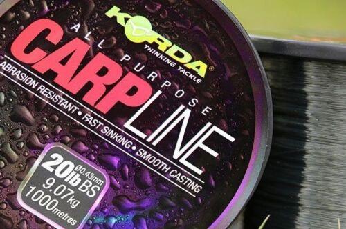 KORDA Carp Line 0,28-0,43 mm 8-20 lb Karpfenschnur schnell sinkend carpline
