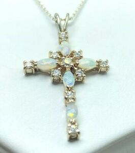 Sterling-Silver-Opal-Cross-Pendant-18-Necklace-E1513
