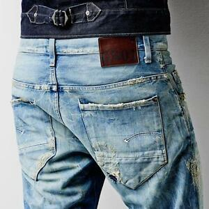 4e45175e786 G-Star Raw Jeans Destroyed 'NEW RADAR SLIM' Medium Aged NEW Mens or ...