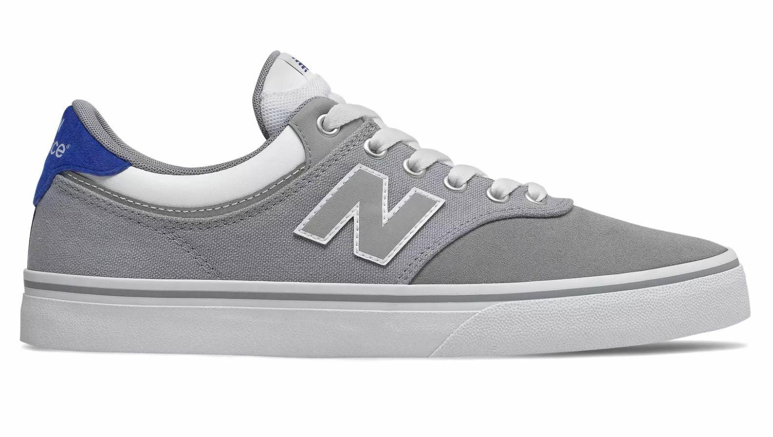 New Balance Numeric 255 Grey with Royal bluee NM225GWR