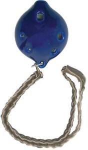 Atlas Moyennes En Céramique Ocarina En G, 6 Trous. Bleu émail. De Hobgoblin Musique-afficher Le Titre D'origine