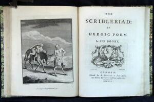 Richard-Owen-Cambridge-The-Scribleriad-1751-1st-Parts-Issue-Edition-Plates-F-P
