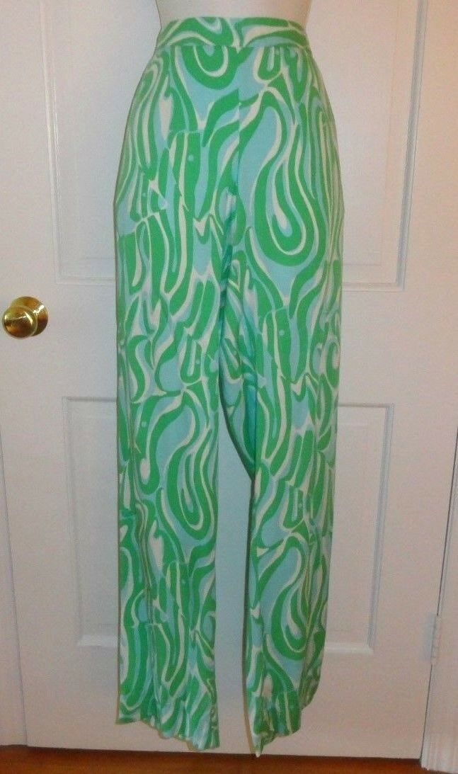 NWT LILLY PULITZER RESORT WHITE FINDERS KEEPERS CAMBRIDGE PALAZZO PANT LARGE