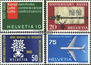 Schweiz-692-695-kompl-Ausgabe-gestempelt-1960-Sondermarken